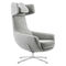 Contemporary armchair / steel / with footrest / with headrest LOU by Uwe Sommerlade BRUNE Sitzmöbel GmbH