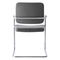 Contemporary visitor chair / steel / stackable / upholstered SKID by Andreas Ostwald BRUNE Sitzmöbel GmbH