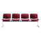 Steel beam chairs / 4-seater / indoor HOLIDAY1 POLSTER BRUNE Sitzmöbel GmbH