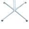 Contemporary bistro table / steel / round / square 4115 by Delphin Design BRUNE Sitzmöbel GmbH