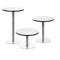contemporary bistro table / chrome steel / chromed metal / round