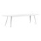 contemporary conference table / wooden / steel / rectangular