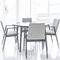 contemporary table / wooden / rectangular / round