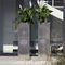 stainless steel planter / square / contemporary