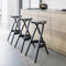 contemporary bar stool / wooden / commercial / for restaurants