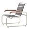 Bauhaus design armchair / wooden / leather / steel S 35  THONET