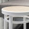 traditional bar stool / beech / bentwood / leather