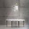 contemporary chandelier / Limoges porcelain / LED / handmade