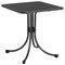 contemporary bistro table / steel / square / garden