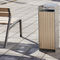 public trash can / galvanized steel / wooden / contemporary