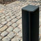 security bollard / galvanized steel / removable