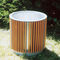 galvanized steel planter / wooden / square / traditional