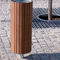 floor-mounted litter bin / stainless steel / wooden / contemporary