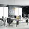 workstation desk / metal / laminate / contemporary