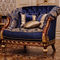 classic armchair / solid wood / velvet / with removable cushion