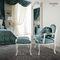 classic armchair / fabric / rocker