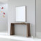 contemporary sideboard table / oak / walnut / lacquered MDF