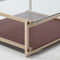 contemporary coffee table / solid wood / lacquered MDF / crystal