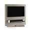 contemporary TV cabinet / swivel / lacquered MDF / stainless steel