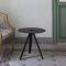 contemporary side table / lacquered metal / round / contract