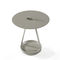 contemporary side table / lacquered MDF / lacquered metal / round