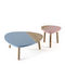 Contemporary coffee table / oak / walnut / solid wood CAMI by Luis Arrivillaga KENDO MOBILIARIO