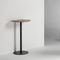 contemporary high bar table / oak / MDF / walnut
