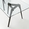 contemporary dining table / solid wood / crystal / rectangular