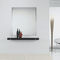 contemporary sideboard table / oak / in lacquered stainless steel / rectangular