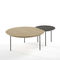 contemporary side table / oak / walnut / lacquered MDF