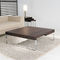 contemporary coffee table / oak / lacquered MDF / metal