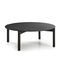 contemporary coffee table / solid wood / marble / circular