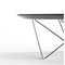 contemporary side table / metal / round