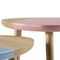 contemporary side table / MDF / triangular