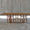 contemporary dining table / oak / walnut / solid wood