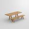 Scandinavian design table / oak / solid wood / walnut