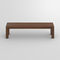 contemporary bench / oak / solid wood / walnut