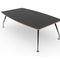 contemporary boardroom table / lacquered wood / metal / rectangular