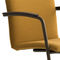 contemporary dining chair / upholstered / with armrests / cantilever