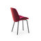 contemporary dining chair / upholstered / sled base / wooden