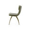 contemporary dining chair / upholstered / fabric / blue