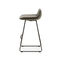 contemporary bar stool / leather / fabric / commercial