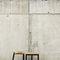 minimalist design side table / natural oak / matte lacquered wood / for restaurants