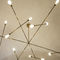 minimalist design chandelier / brass / steel / incandescent