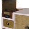 chest of drawers with long legs / original design / lacquered wood / patinated wood