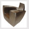 original design armchair / leather / stainless steel / with concealed casters