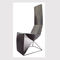 original design chair / high-back / with removable cushion / cantilever