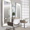 Contemporary dressing table / stainless steel / Plexiglas® / wall-mounted PLATINUM Salon Ambience