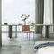 contemporary dining table / wooden / metal / rectangular