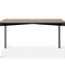 contemporary dining table / metal / walnut / square